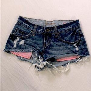 Billabong denim short shorts
